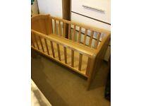 Crib ( rocking crib) & crib quilt bumper couple of sheets
