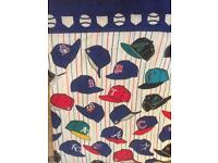 American baseball print single quilted bedspread