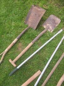 Garden tools selection of old items