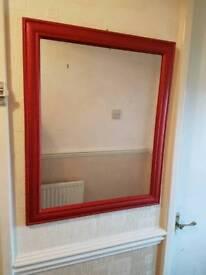 Red glitter mirror