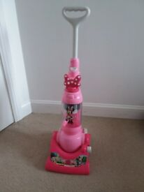 Minnie mouse pink toy hoover with beads for hoover-like sound