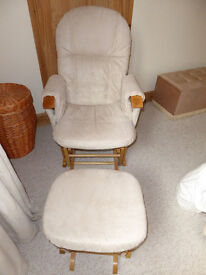 Have one to sell? Sell it yourself Details about TUTTI BAMBINI WOOD GLIDER CHAIR & STOOL