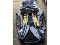 Karrimor Bobcat 65 ltr backpack. Top and bottom opening