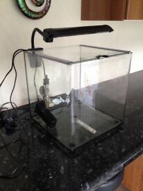 Aqua one fish tank with heater & filter