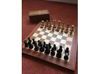Wooden chess set with box