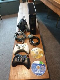 Xbox 360 250gb Slim Boxed Console 2 controller and 2 Games good condition and fully working