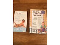 What to Expect in the First Year & Contented Little Baby book