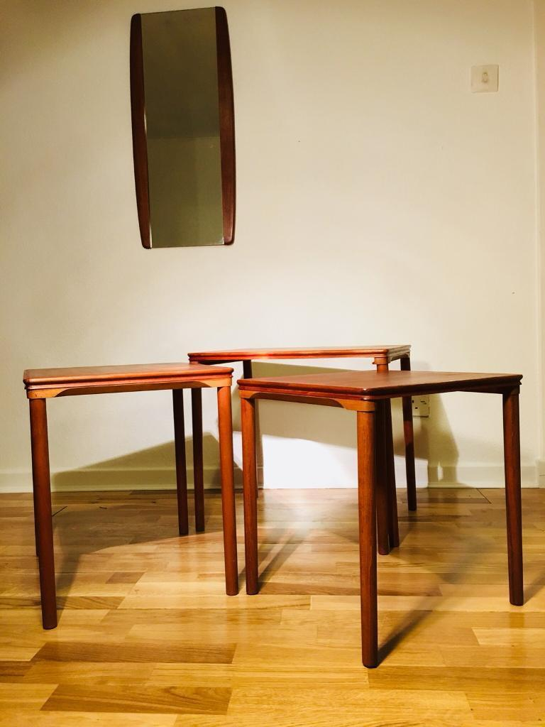 Nest Of Tables Midcentury Danish In Edinburgh City