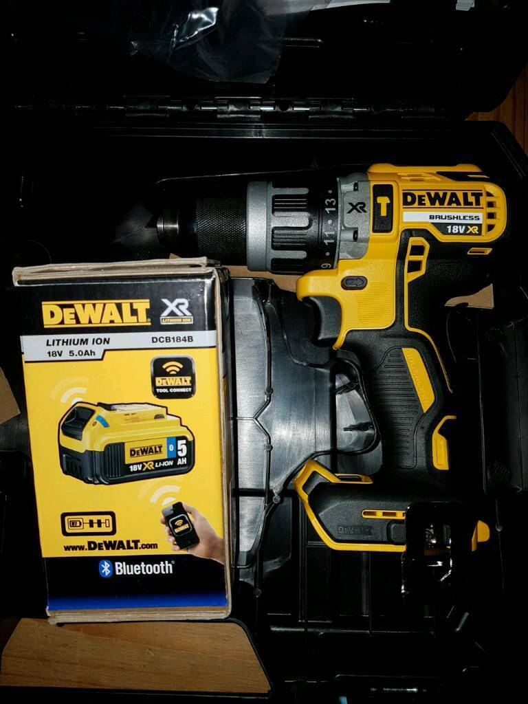 Brand new Dewalt DCD796 and bnib 18v 5.0ah DCB184B in tstack case