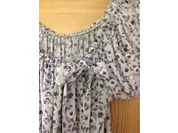 Floral, summer blouse, size 10 - FREE delivery