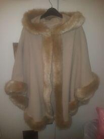 Womens mink shawl coat