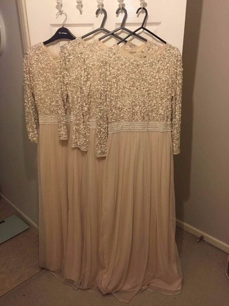 SEQUIN BRIDESMAID DRESSES X 4 - BRAND NEW WITH TAGS, HOUSE OF FRASER ...