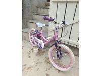 "Princess concept 16"" bicycle age 4-7"