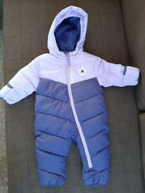 Baby girl CONVERSE snowsuit, 9-12 months