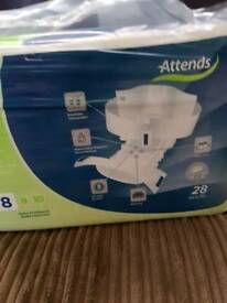 ATTEND SIZE 8 INCONTINENCE PADS