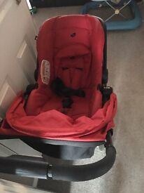 Joie pushchair & newborn car seat