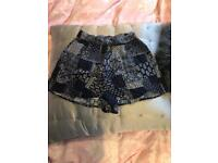 Topshop patterned high waisted shorts