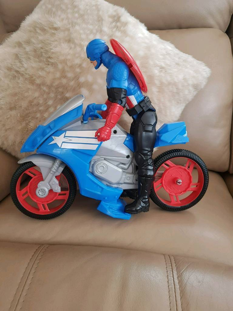 Captain America and motorbike