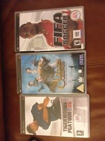 3 x SONY PSP GAMES- TIGER WOODS + FIFA + THE GOLDEN COMPASS PLAYSTATION POCKET WYMONDHAM