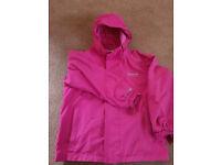 Regatta girls waterproof coat.