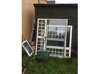 Aluminum double glazing windows different sizes bargain