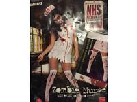 Zombie nurse outfit with bloody stockings