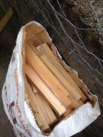 Dry kindling firewood
