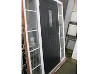 Black Composite Door & Side Panels, Very Cheap At Only £200. ( W- 1770 x H-2100 ) *DONT MISS OUT*