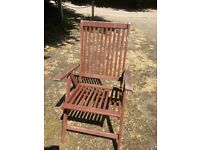 Garden chairs made from hardwood.