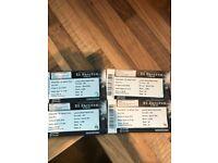 Ed Sheeran tickets x4 seated