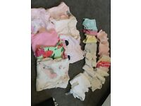Baby girls 0-3 month baby grows and vests