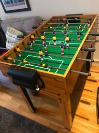 Foosball table (football table) and pingpong, billiardo, chess, more than 15 games included.