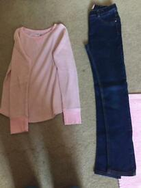 Gap girls 10-11 top and next girls 11 yrs jeans