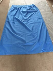 Pair Blue pencil pleat blackout curtains 46 inches wide 72 inches long