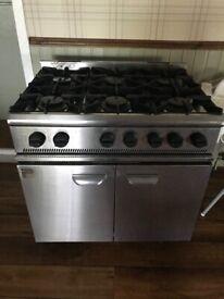 Parry LPG Commercial Cooker 6 Burner