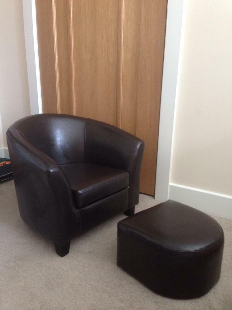 Toddler tub chair faux brown leather | in Dunblane, Stirling | Gumtree