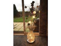Vase of flowers lamp
