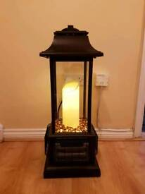 Heater Conservatory Indoor PowerHeat LED Electric Candle Table Black