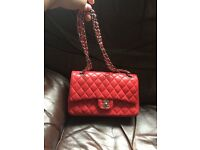 100% real leather CHANEL hand bag handbag not Celine prada Louis Vuitton LV Hermes Micheal kors mk