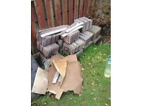 SMALL ROOFING TILES NEW BROWN 6 INCH WIDE