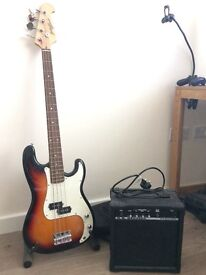 Johnny brook bass guitar and bb blaster 10w amp
