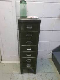 VINTAGE STEEL FILING CABINET - SMALL