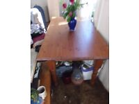 PINE DINING TABLE + 2 CHAIRS CAN DELIVER