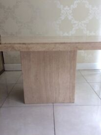 Cream marbel dining table