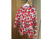 Hatley Girl's Strawberry Raincoat- 4 years. Good condition!
