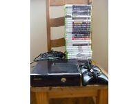 XBOX 360 ( With two controllers and over 30 games)