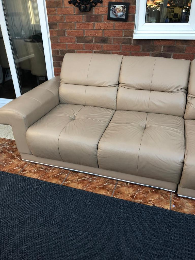 Real leather CORNER Sofa Bed   in Sandwell, West Midlands ...
