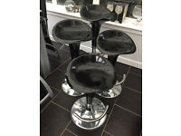 Gas Lift Stool - Black and Chrome (4) in Excellent Condition