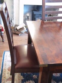 Laura Ashley extending dining table & 6 chairs