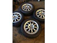 set of 4 alloy wheels to fit Alfa Romeo Citroen dispatch fiat Scudo van